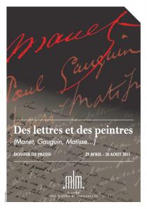 Lettres et peintres